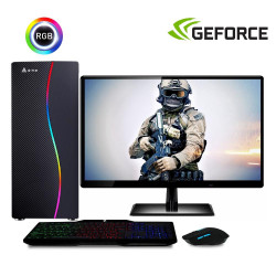 Computador Gamer Completo com Monitor LED Intel Core i5 8GB HD 500GB (Nvidia Geforce GT 2GB) Kit Gamer EasyPC Stronger